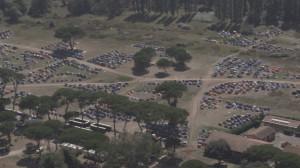 Foto dall'alto del parco di San Rossore.