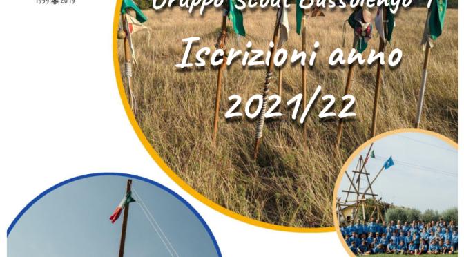 ISCRIZIONI ANNO SCOUT 2021-22